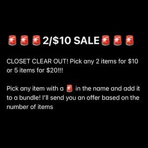 🚨 2 for $10, 4 for $17, 5 for $20!!